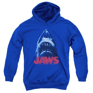 Jaws/From Below Youth Pull-Over Hoodie in Royal