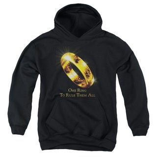 LOTR/One Ring Youth Pull-Over Hoodie in Black