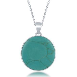 La Preciosa Sterling Silver Natural Stone Tree of Life Pendant Necklace