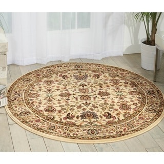 kathy ireland Antiquities Royal Countryside Ivory Area Rug (3'9 Round) by Nourison