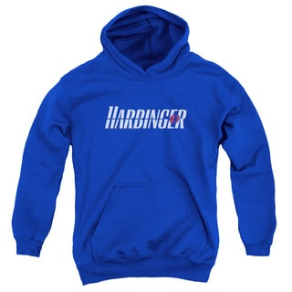 Harbinger/Logo Youth Pull-Over Hoodie in Royal Blue