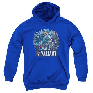 Valiant/Ready For Action Youth Pull-Over Hoodie in Royal Blue