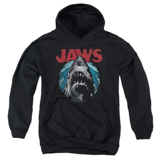 Jaws/Water Circle Youth Pull-Over Hoodie in Black