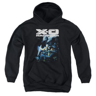 Xo Manowar/By The Sword Youth Pull-Over Hoodie in Black