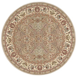 kathy ireland Antiquities American Jewel Cream Area Rug (3'9 Round) by Nourison
