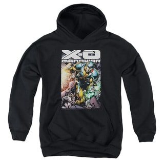 Xo Manowar/Pit Youth Pull-Over Hoodie in Black
