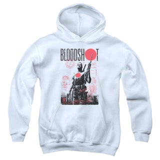 Bloodshot/Death By Tech Youth Pull-Over Hoodie in White