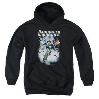 Harbinger/12 Youth Pull-Over Hoodie in Black