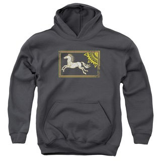 LOTR/Rohan Banner Youth Pull-Over Hoodie in Charcoal