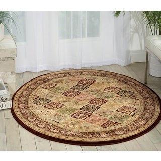 kathy ireland Antiquities Washington Square Multicolor Area Rug (3'9 Round) by Nourison