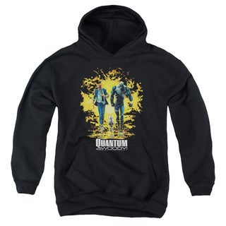 Quantum and Woody/Explosion Youth Pull-Over Hoodie in Black