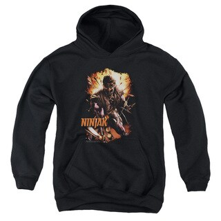 Ninjak/Fiery Ninjak Youth Pull-Over Hoodie in Black