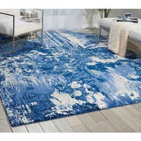 Nourison Twilight Blue/Ivory Area Rug (5'6 x 8')