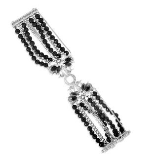 Stephen Webster Sterling Silver Black Gem Pop Superstud Bracelet