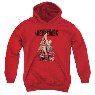 Archer & Armstrong/Hang in There Youth Pull-Over Hoodie in Red