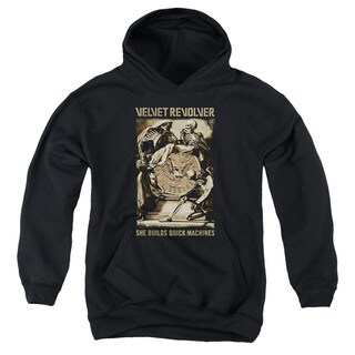 Velvet Revolver/Quick Machines Youth Pull-Over Hoodie in Black