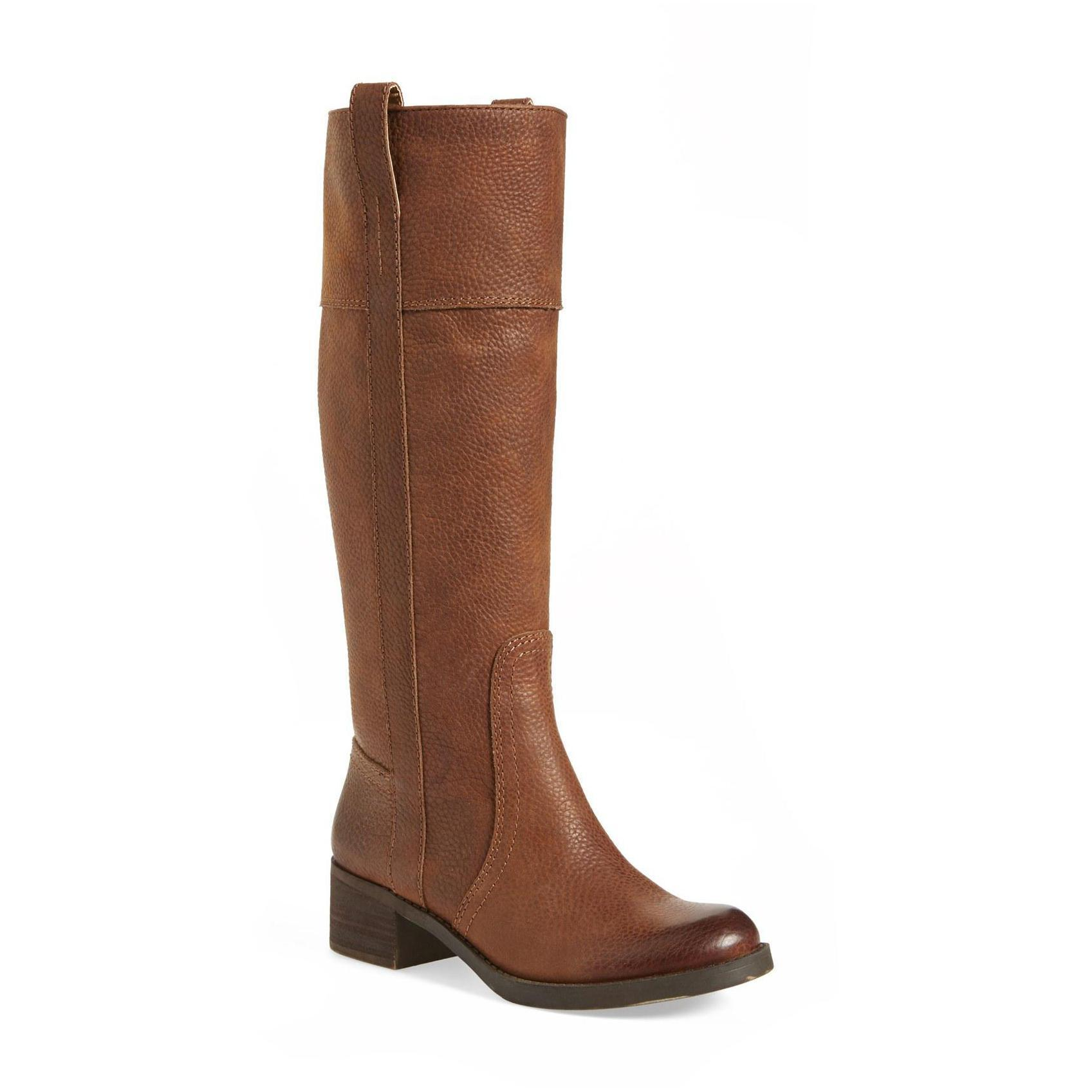 Lucky Brand Heloisse Leather Pull-on Knee-high Riding Boo...