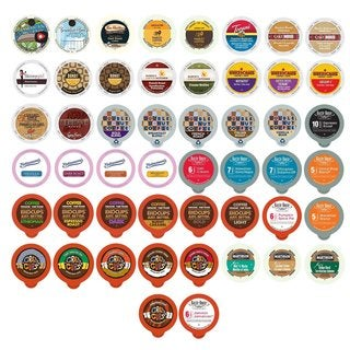 Coffee Single-serve Cups 50-count Variety Sampler Pack for Keurig K-Cup Brewers