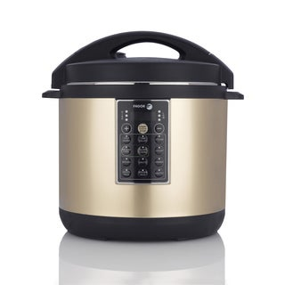 Fagor 8 Quart LUX Champagne-colored Stainless Steel Mulit Cooker