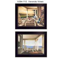 """Veranda Views"" Collection By John Rossini, Printed Wall Art, Ready To Hang Framed Poster, Black Frame"