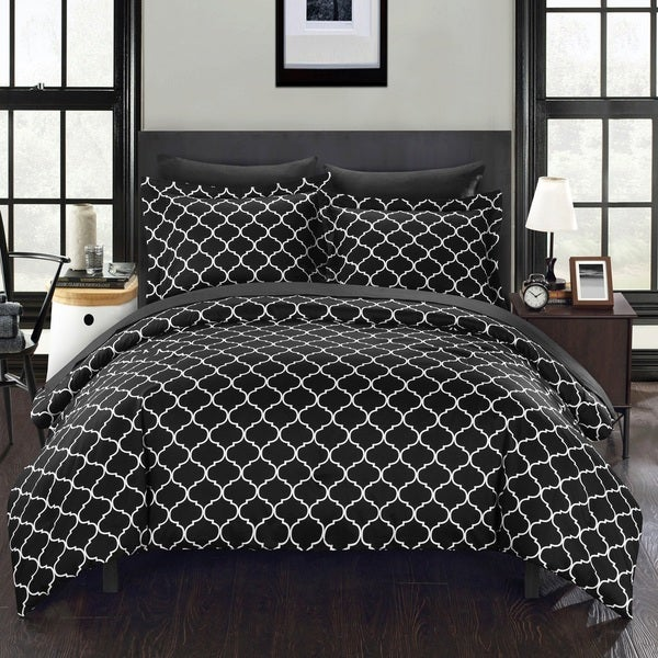 Chic Home Maitland BIB Black Comforter 7-Piece Set