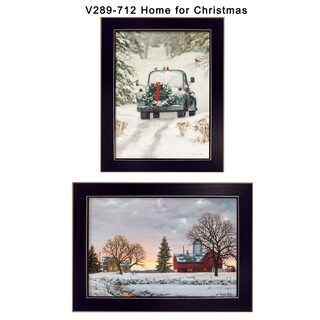 """Home for Christmas"" Collection By Bonnie Mohr, Printed Wall Art, Ready To Hang Framed Poster, Black Frame"