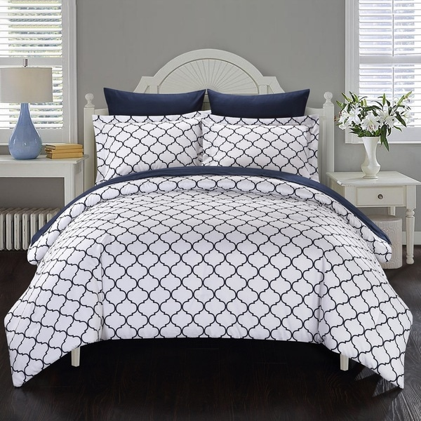 Chic Home 7-Piece Maitland BIB Comforter Set, Navy