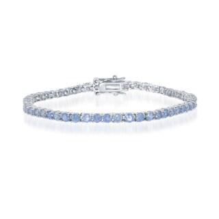 La Preciosa Sterling Silver/Cubic Zirconia 3-millimeter Tennis Bracelet