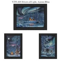 """""""Rivers Of Light"""" Collection By Kim Norlien, Printed Wall Art, Ready To Hang Framed Poster, Black Frame"""