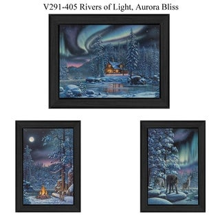 """Rivers Of Light"" Collection By Kim Norlien, Printed Wall Art, Ready To Hang Framed Poster, Black Frame"