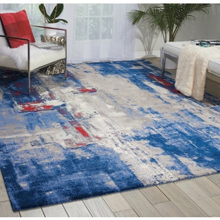 Nourison Twilight Grey/Blue Area Rug (8'6 x 11'6)