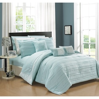 Chic Home Zarina BIB Aqua 10-Piece Comforter Set