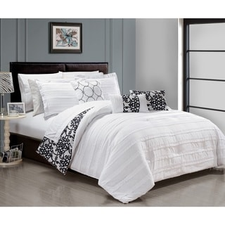 Chic Home Zarina BIB White 10-Piece Comforter Set