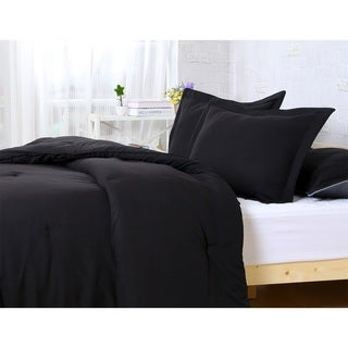 Super Soft Solid 3-piece Comforter Set