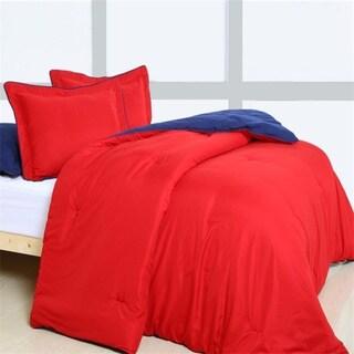 Super Soft Reversible 3-piece Comforter Set (Option: Black)