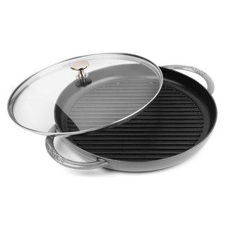 Staub Graphite Grey Cast Iron 12-inch Round Steam Grill