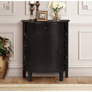 Wonderful Gallerie Decor Sutton Espresso Wood 1 Door 1 Drawer Cabinet