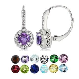 Link to Glitzy Rocks Sterling Silver Gemstone Birthstone Round Leverback Earrings Similar Items in Earrings