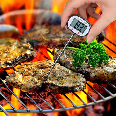 Instant-Read Stainless Digital Cooking Thermometer With Auto Shut-Off