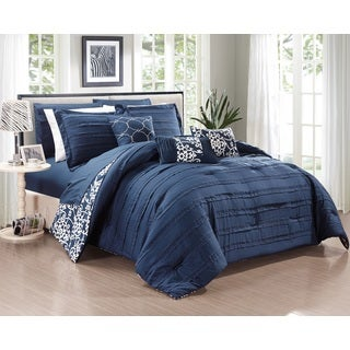Oliver & James Francis Navy 10-piece Comforter Set