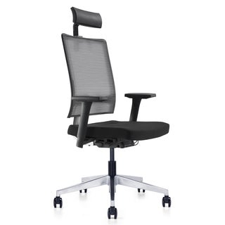 M2 Executive High-back Office Chair in Black Mesh