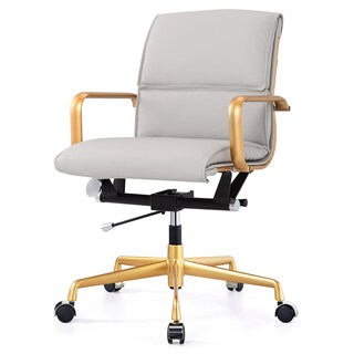 M330 Office Chair in Gold and Grey Vegan Leather