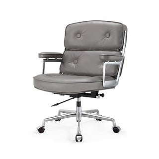 M310 Grey Aniline Leather Executive Office Chair