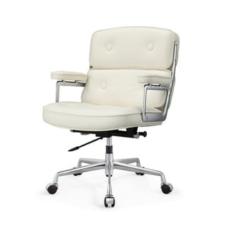 M310 White Aniline Leather Office Chair