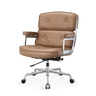 M310 Brown Aniline Leather Office Chair