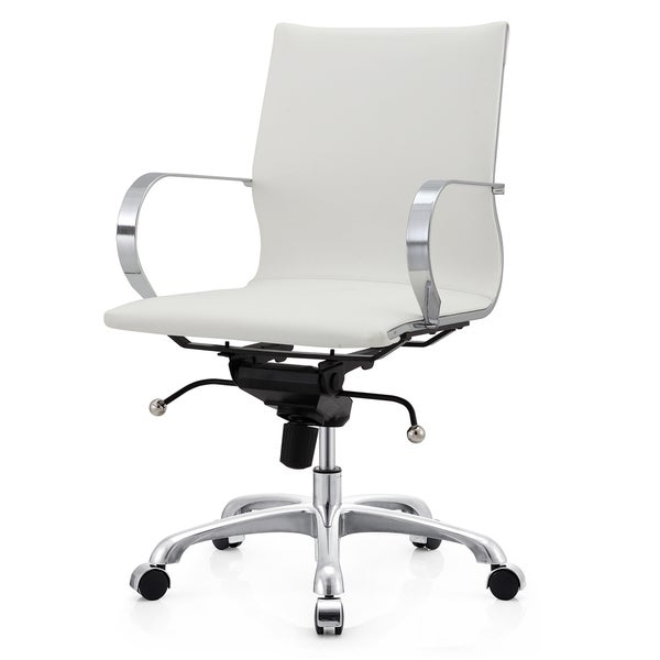 M360 Gold And White Vegan Leather Office Chair