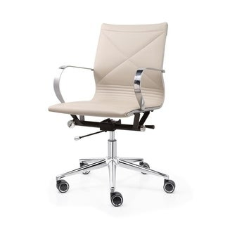 M365 Grey Vegan Leather Office Chair