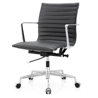 M5 Midnight Grey Aniline Leather Ergonimic Executive Office Chair