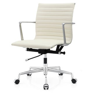 M5 White Aniline Leather Office Chair