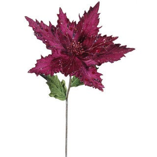 Vickerman Mauve Plastic 26-inch Poinsettia with 13-inch Flower (Pack of 3)